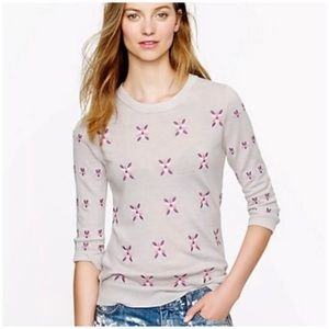 🌿 J.Crew Tippi Embroidered Floral Sweater XS